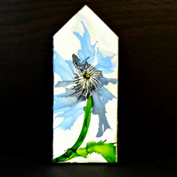 Small Wooden House - Abstract Flower