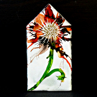 Tiny House Ornament - Flower Painting