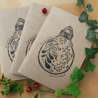 'Festive Jottings' Hand Printed Sketchbook