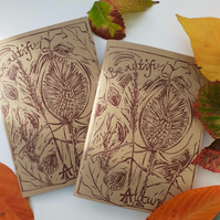 'Beautiful Autumn' Hand Printed Sketchbook (B)