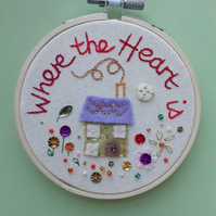 'Where the Heart is' Hoop, Green House