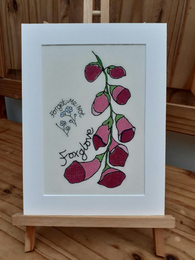Foxglove & Forget-Me-Not Giclee Print