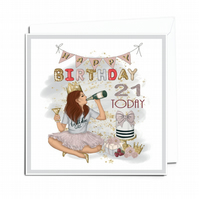 Personalised Age Of Your Choice Happy Birthday Luxury Layered Greeting Card CD5