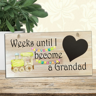 Baby Countdown Sign-Baby Countdown Plaque-Grandad Baby Countdown Gift-N12