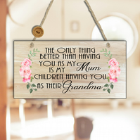 Mum Gift-Gift For Mum-The Only Thing Better Than Having You As My Mum Sign-N24