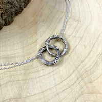Silver Twig Infinity Necklace