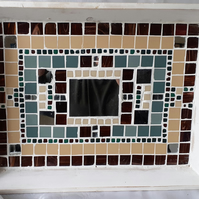 LARGE COVENT GARDEN TRAY WITH MOSAIC AND MIRROR DECORATION