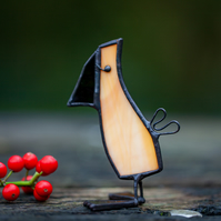 Stained Glass Cheeky Bird - Whimsical Suncatcher Window Ornament