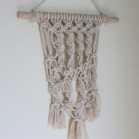 Spiral and Heart Macramé Wall Hanging