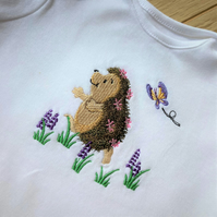 Embroidered baby t shirt body suit 6 - 9 months