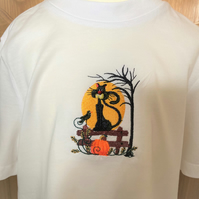Child's embroidered Halloween t shirt to fit age 3 - 4 years