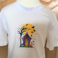 Child's embroidered Halloween t shirt to fit 3 - 4 years