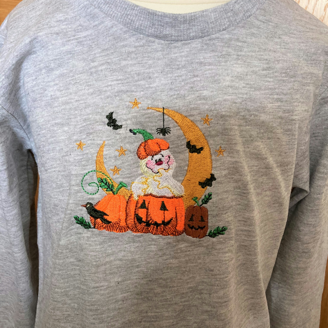 Child's embroidered Halloween long sleeve t shirt to fit 2 - 3 years