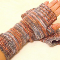 SUMMER SALE: hand knitted fingerless gloves
