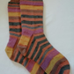 Hand knitted merino wool socks, size 7-8