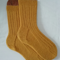 Hand knitted socks, SMALL size 4-5 - ALPACA WOOL BLEND
