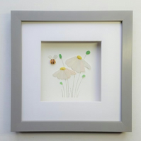 Sea Glass Flowers, Daisies, Unusual Gifts for Her, Christmas Gift Idea