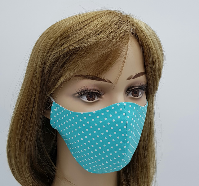 Cotton dust mask, reusable and washable travel mask, protective mask for women