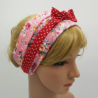 Wide cotton head scarf for women, tichel, self tie hair scarf, hair covering