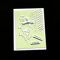 Sending Green Hugs - Handcrafted (blank) Card - dr19-0012