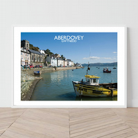Aberdovey in Gwynedd, Wales. An original illustration by David at Salty Seas