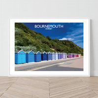 Bournemouth in Dorset, England. An original illustration by David at Salty Seas