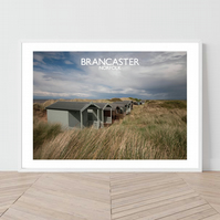 Brancaster in Norfolk, England. An original illustration by David at Salty Seas