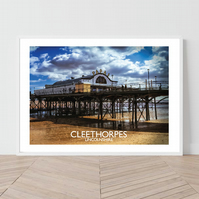 Cleethorpes in Lincolnshire. An original illustration by David at Salty S
