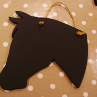 Horse chalk board - black board