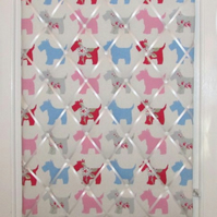 Pink Scottie Dog Large Notice and Pin Board