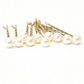 Ivory Pearl Hair Pins. Set of 10, Hair Grips. 8mm Swarovski Crystal Pearl