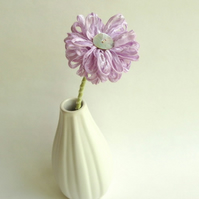 Ribbon Flower handmade in lilac ribbon