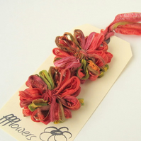 Ribbon Flowers, indian summer, applique, embellishment