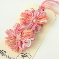 Flower Appliques Peach Melba Medium