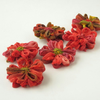 Flower Appliques, Indian Summer Ribbon