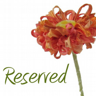 RESERVED 12 flowers
