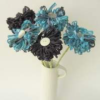 Custom Bouquet, 5 fabric flowers