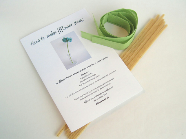 NEW! ffflower stem kit, craft kit, how to