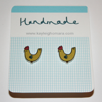 SALE Chicken Earrings
