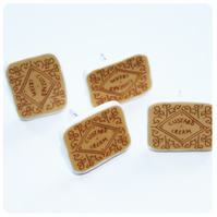 Custard Cream biscuit earrings