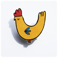 Chicken Brooch