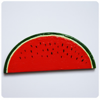 Hand painted Watermelon Brooch