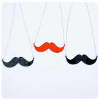 Acrylic Moustache Necklace