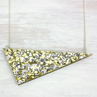 CLEARANCE Acrylic gold glitter 'Purpurina' necklace