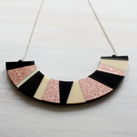 'Zeena' Bronze Acrylic Necklace