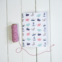 CLEARANCE A5 Nautical Pattern Notebook
