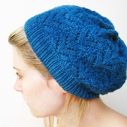 Knitting Pattern For Lace Hat : Knitting Pattern: Nordic Lace Hat - Folksy