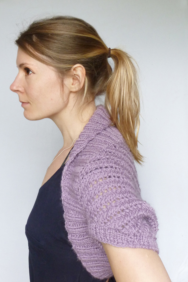Knitting Pattern For Bolero Shrug : KNITTING PATTERN: Heather Bolero Shrug - Folksy