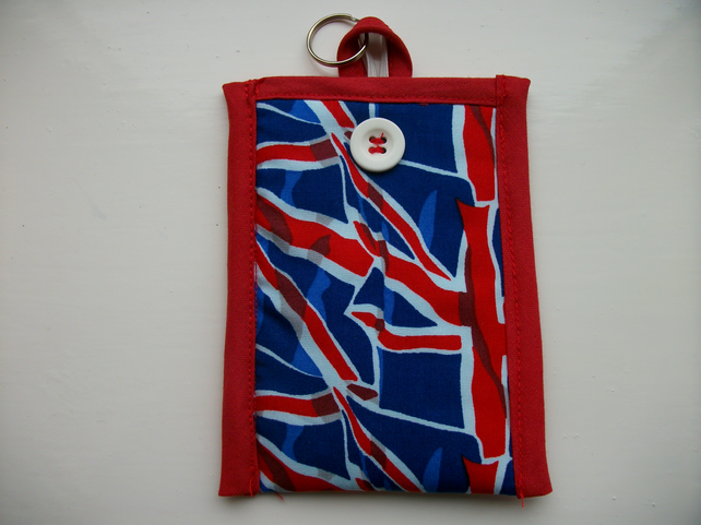 Mobile Phone Cover In Union Jack Fabric