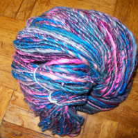 Handspun Art Yarn in Pinks and Purples